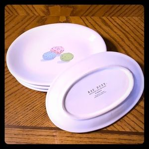 Set of Four Rae Dunn Easter Egg Plates- limited ed